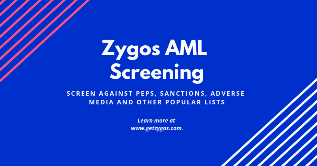 Zygos new AML Screening module